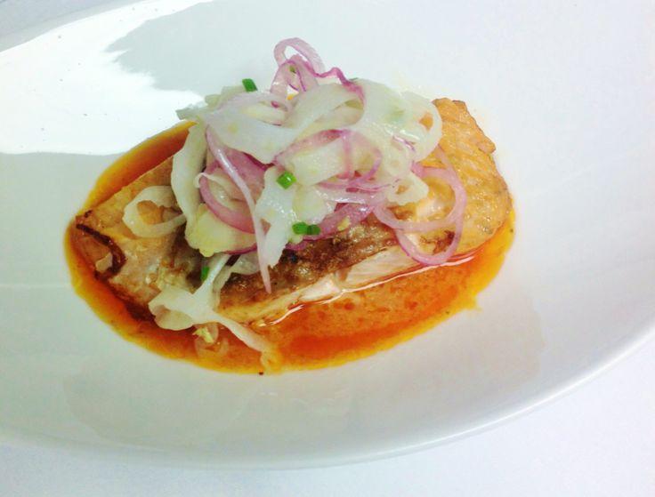 ... on our menu: Pan Roasted Salmon with Roast Fennel! #VanderBarEats
