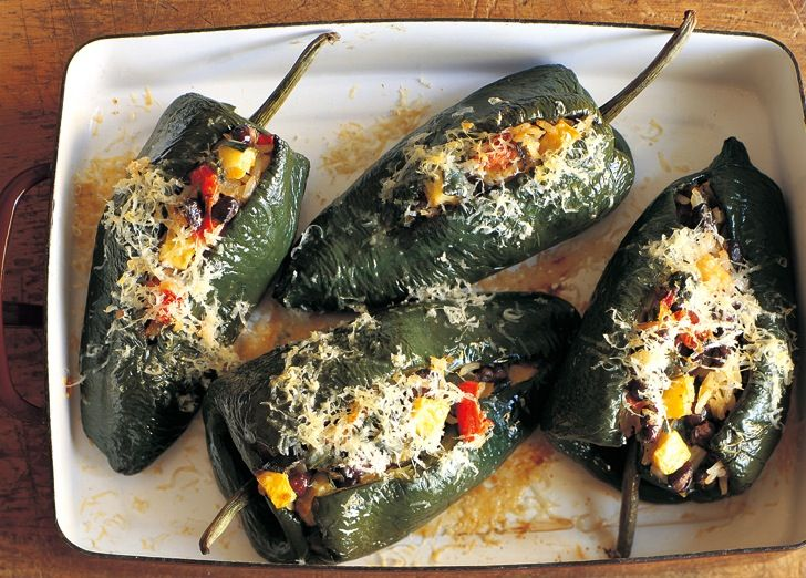 Poblano Chilies Stuffed with Black Beans and Summer Squash | Williams ...