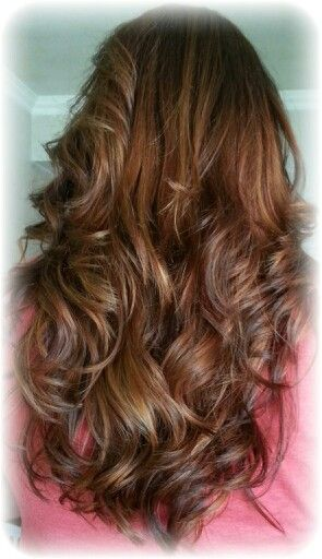 Medium brown with caramel highlights | hair... | Pinterest