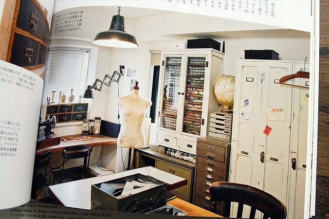 Artist workroom. Organized.