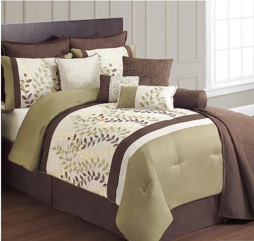 brown and green bedding home decor pinterest