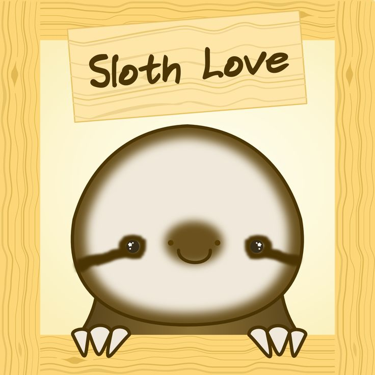 big sloth love face