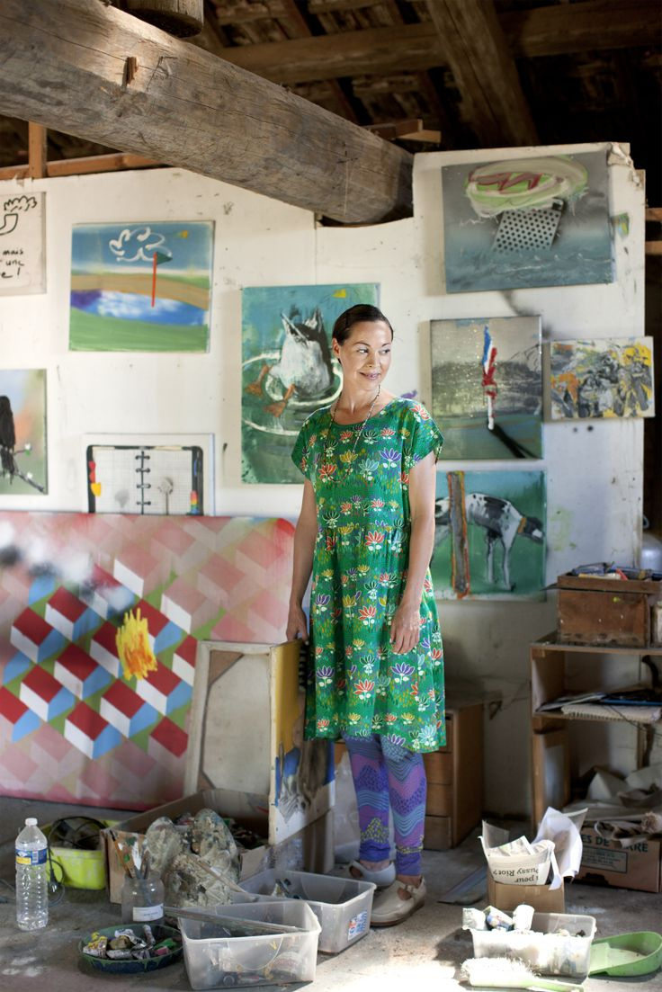 This beautiful dress was inspired by the Finnish artist Tove Jansson www.gudrunsjoden.com