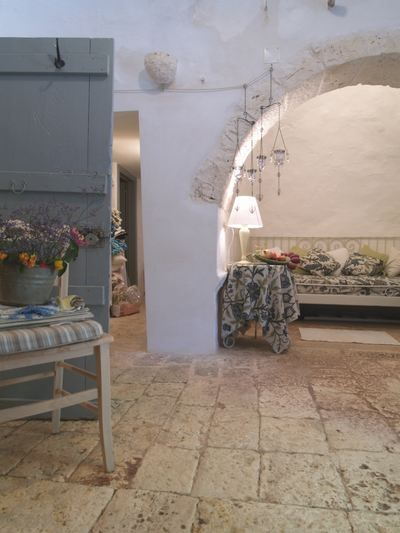 Inside a Trullo Home in Alberobello, Apulia/Puglia, Italy.