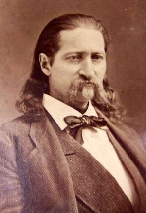 James Butler Hickok (1837-1876), better known as Wild Bill Hickok, was a legend of the American Old West. His reputation as a gunfighter, scout, lawman, marksman, actor, and professional gambler resulted in his fame. Calamity Jane claimed she had been married to him briefly but no records were found. In 1876 he married Agnes Thatcher Lake, 11 years his senior. Four months later he was shot and killed by Jack McCall while playing poker in Deadwood, Dakota Territory (now South Dakota).