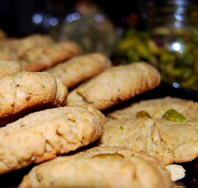 Pistachio-Cardamom Shortbread Cookies   Recipe