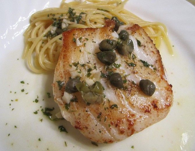 Chilean Sea Bass with Lemon Caper Sauce | Yummy Fish & Seafood Recipe ...
