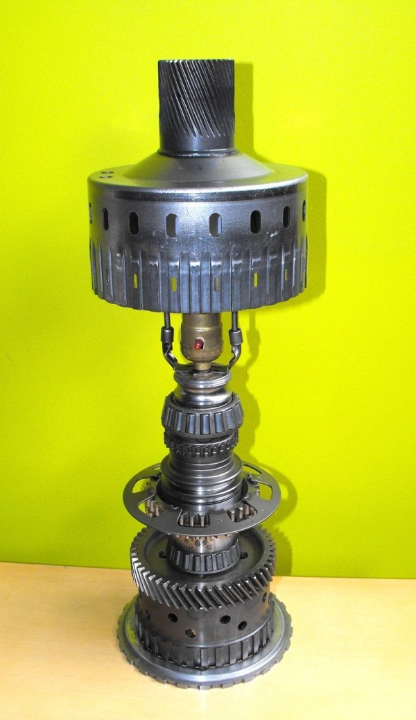 lamp made of car parts crafty ideas pinterest