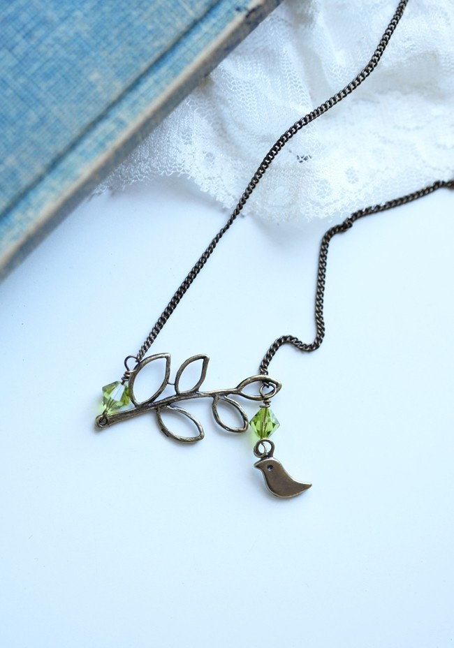Perched Dove Necklace By Lovelina - looks like what I made at SACI, except much better...