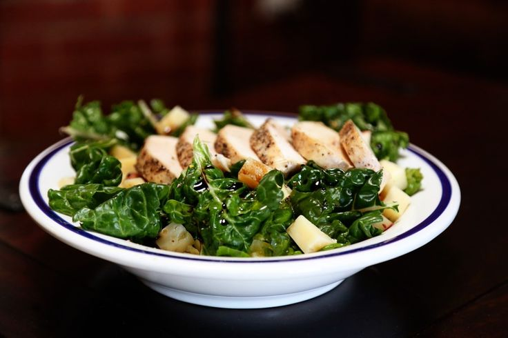 ... - Swiss Chard with Roasted Chicken, Apple, Pistachio and Parmesan