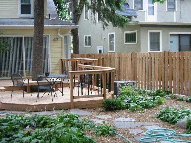 Grassless yard backyard pinterest for Grassless garden designs