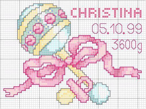 Вышивка крестиком схема для новорожденных 449