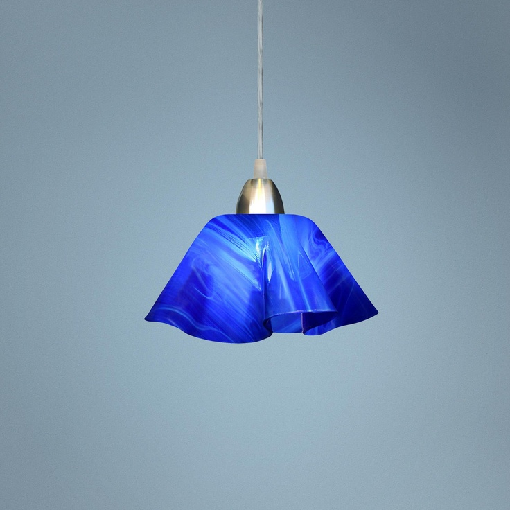 jezebel radiance cobalt navy blue glass pendant light