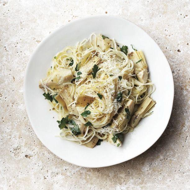 lemon pasta with artichokes