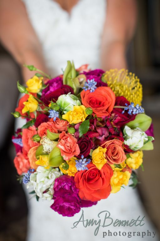 Huge Multi Colored Bridal Bouquet Bouquets And Wedding Flowers Pi