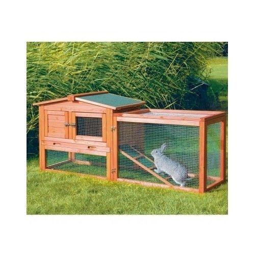 Rabbit hutch outdoor run small pets animals bunny cage pen for Outdoor bunny hutch
