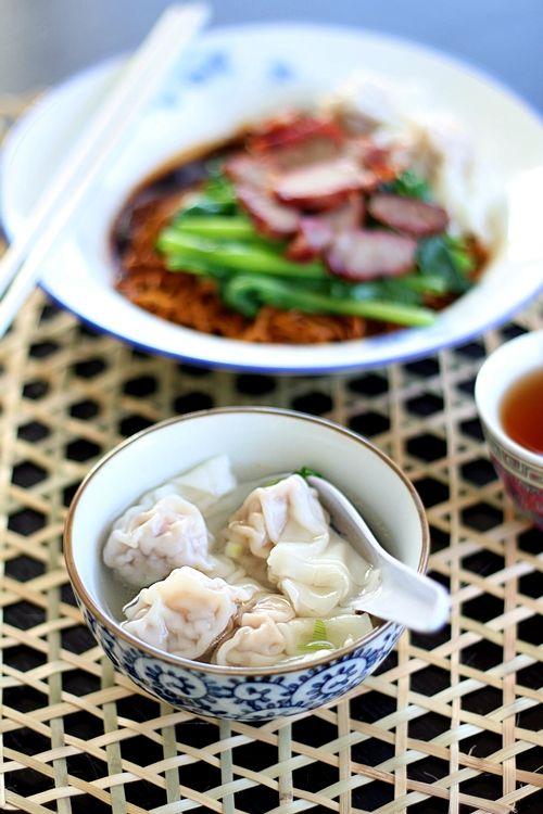 """Wonton Noodles (Malaysian Wantan Mee) or Chinese """"Wantan Mee"""""""