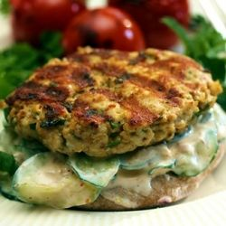 Turkey Burgers with Middle Eastern Flavors on Whole Wheat Pita with ...