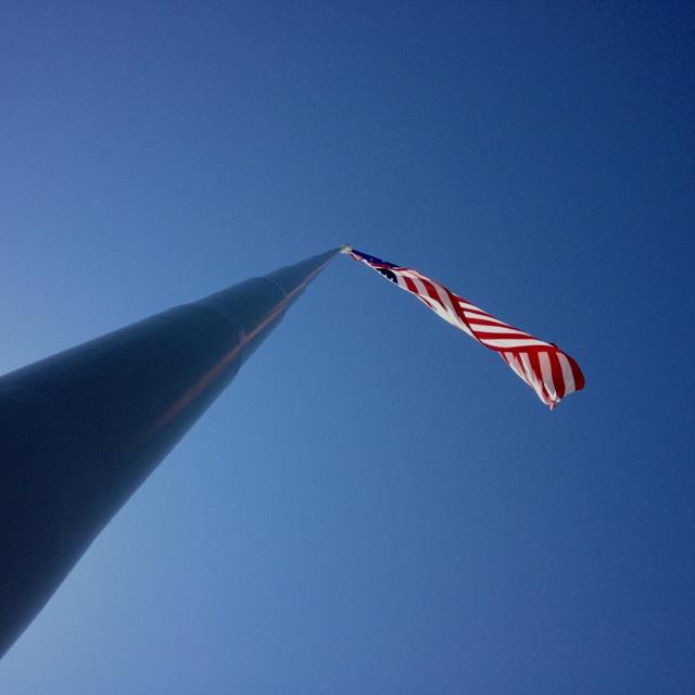 the flag pole
