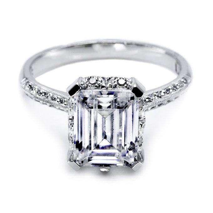 tacori style 2504emp9x7 emerald cut diamond engagement