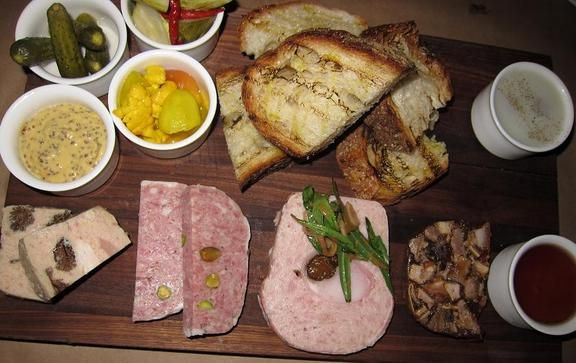 Groaning terrine board includes 5 scrumptious selections: rustic pork ...
