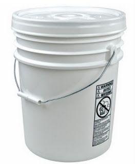 necessity: bucket of charcoal