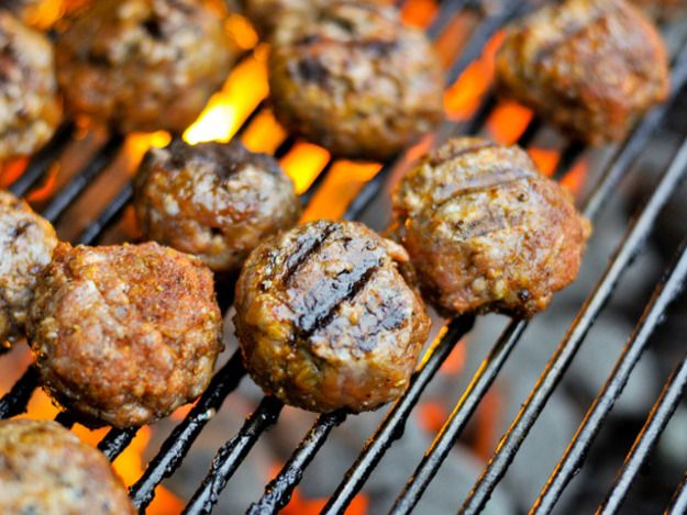 Grilling: Italian-Style Meatballs with Pecorino and Parmesan