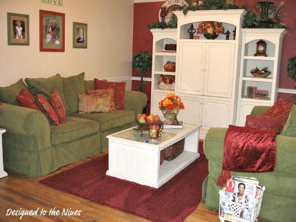 Red and green living room home decor pinterest for Red and green living room ideas