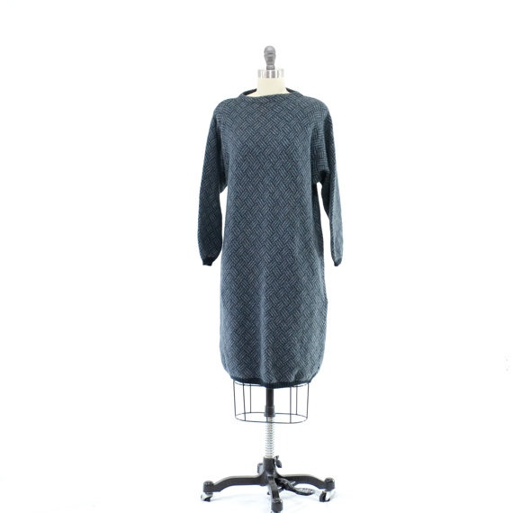 Benetton Sweater Dress Vintage 80s Dress by 830Vintage on Etsy, $36.00