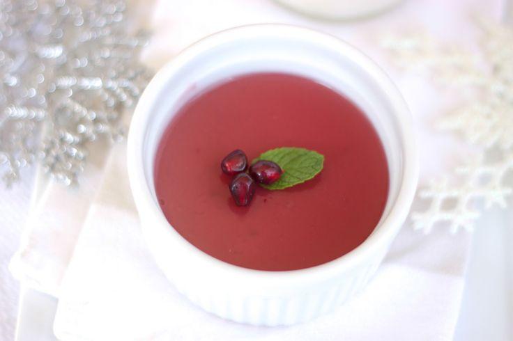 Pomegranate Lemon Panna Cotta Recipe — Dishmaps