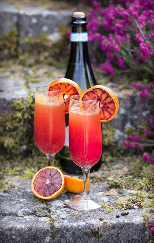 Blood Orange Mimosas | SongofSpiceandFire | Shakes, Cocktails, Drinks ...