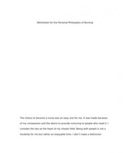 philosophy of nursing term papers