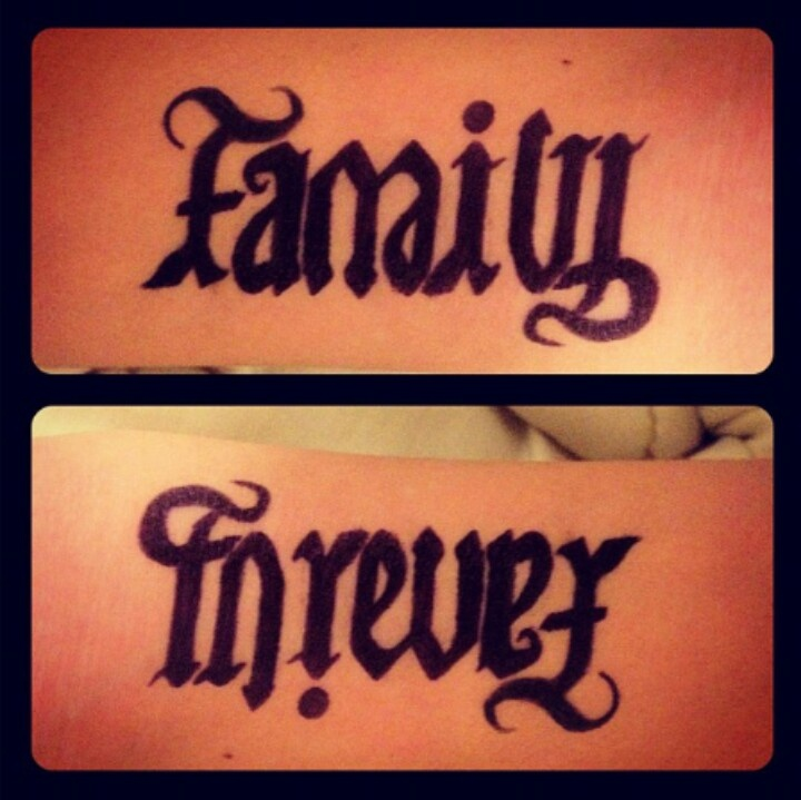 Family Forever Tattoos Family forever tattoo.