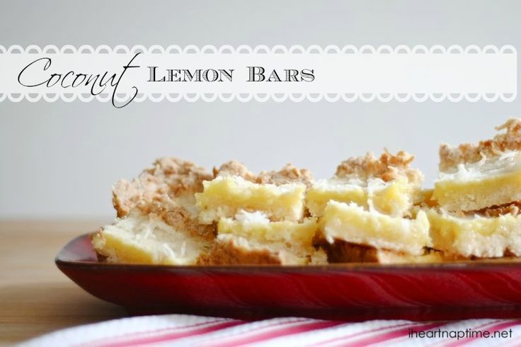 Coconut Lemon Bars | Recipe