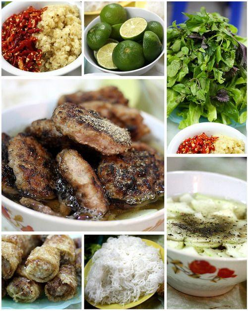 BUN CHA HA NOI ( HANOI STYLE RICE VERMICELLI SOUP WITH GRILLED PORK)