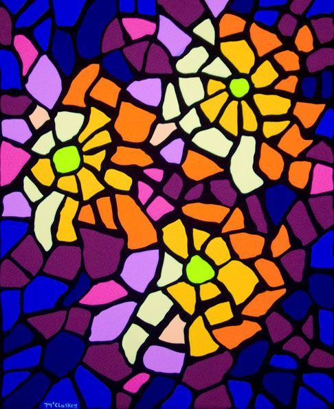 Mosaic flowers pattern mosaic patterns pinterest