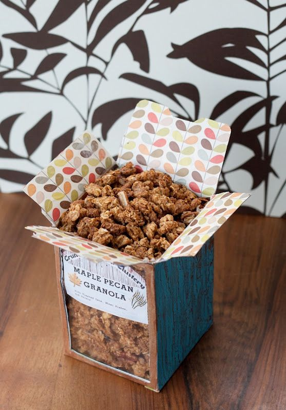 Top with cinnamon: Crispy, Crunchy, Clustery; Maple-Pecan Granola