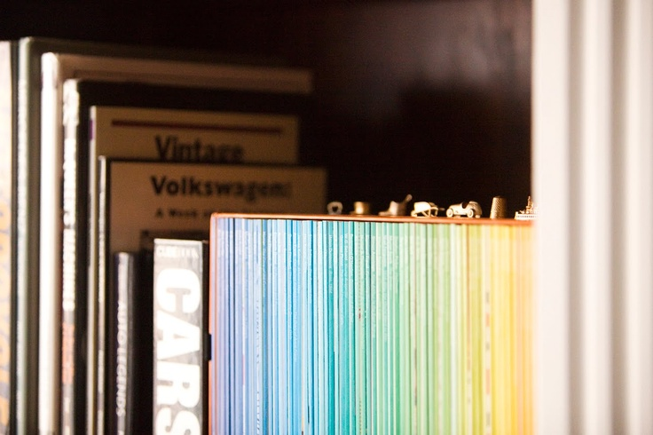 Monopoly pieces on a bookcase. Sweet.