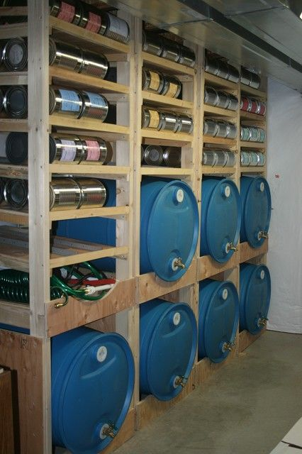 How to build a water and food storage shelf