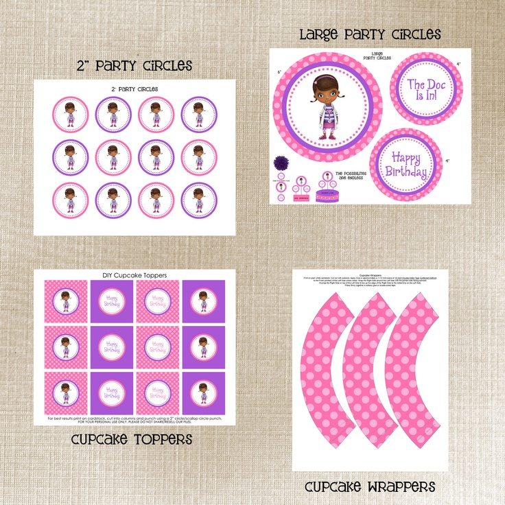 It's just an image of Slobbery Free Doc Mcstuffins Party Printables