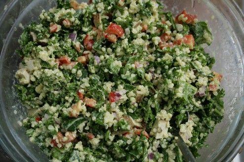 Thai Peanut Quinoa Kale Salad | Food | Pinterest