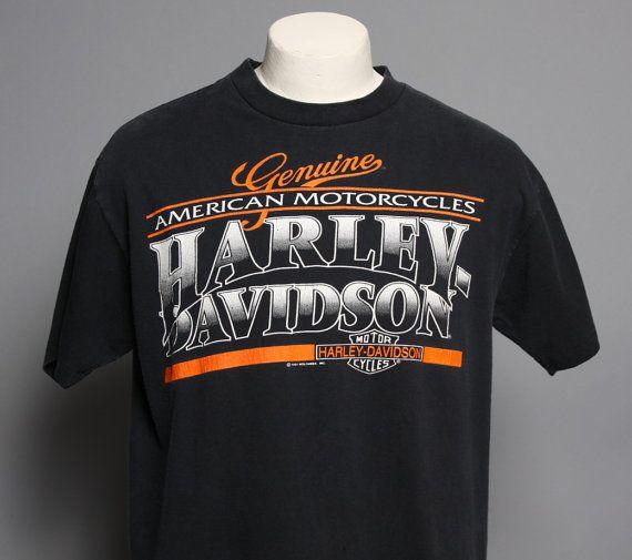 90s harley davidson tshirt genuine american tough luck