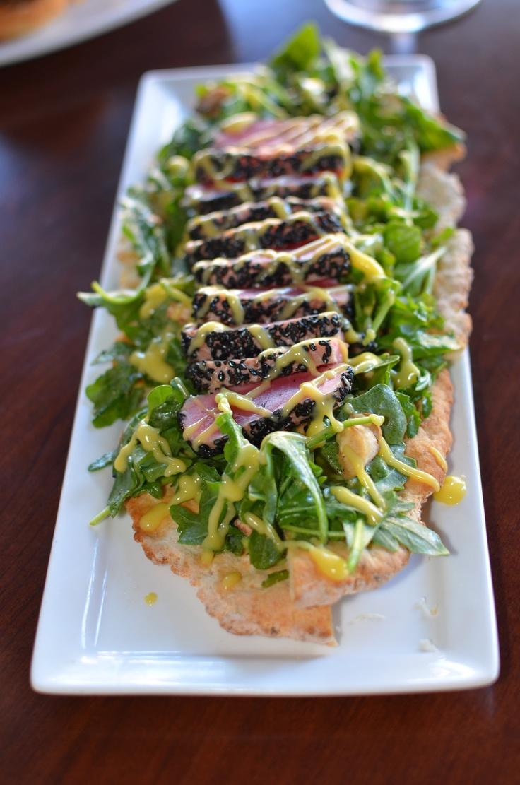 Seared Tuna With Tomato-Lemon Vinaigrette Recipe — Dishmaps