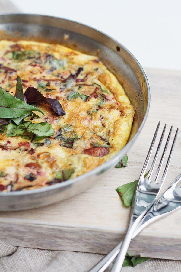 Beet Green and Mushroom Frittata | Veggo | Pinterest