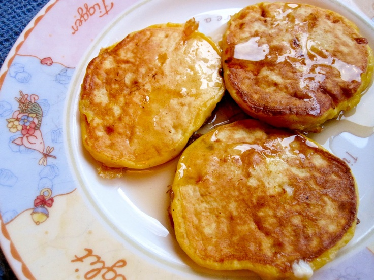 """French"""" Cottage Cheese Pancakes: 1 cup cottage cheese, 3/4 c flour, 3 ..."""