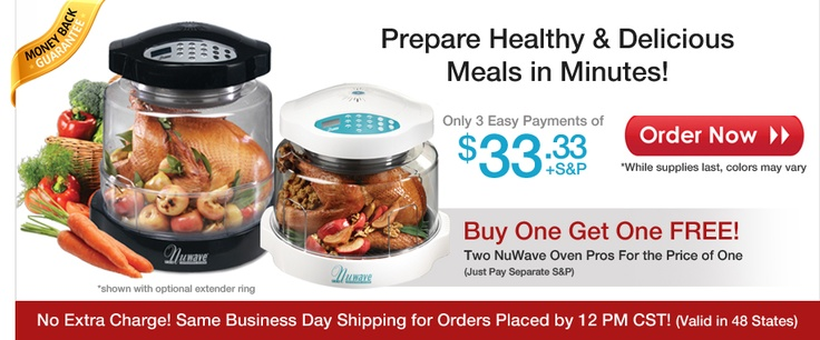 NuWave Oven Official Website - As Seen on TV Countertop Appliance $130