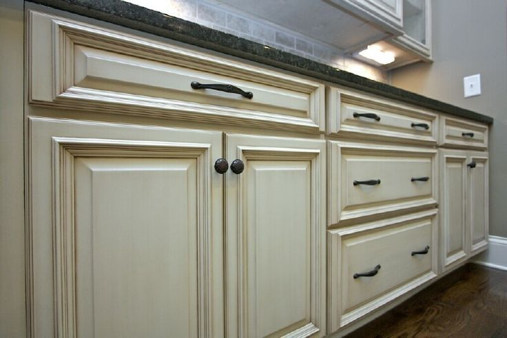Tea stained kitchen cabinets kitchen pinterest - Off white cabinets with chocolate glaze ...
