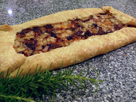 Rustic Onion Tart. Excellent. Used mixture of spelt flour & white for ...