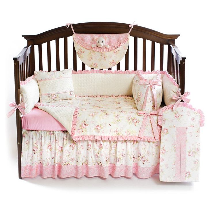 Shabby Chic Pink 5pc BABY GIRL Crib Bedding Set by sofiabedding, $279 ...