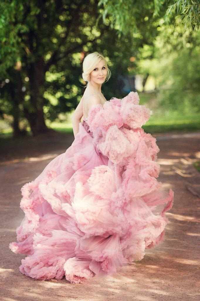 Фотосессия платье облако